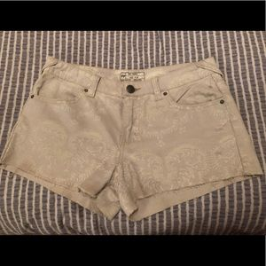 45d534406 Free People Cream Paisley Shorts